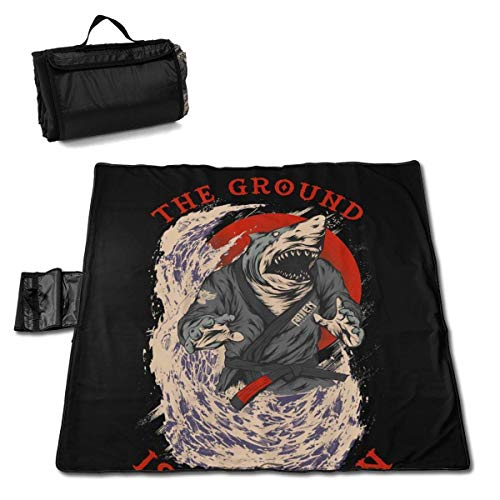 Suo Long Couverture de Pique-Nique Samurai Shark The Ground is My Ocean Couverture de Plage