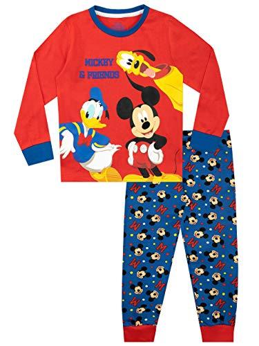 Disney Jungen Mickey Mouse Pluto und Donald Duck Schlafanzug Mehrfarbig 128