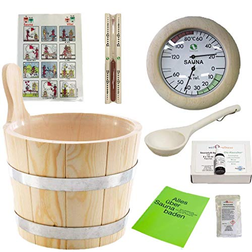 SudoreWell® Sauna Starter Set 2 / Saunazubehör Set 2-9-teilig