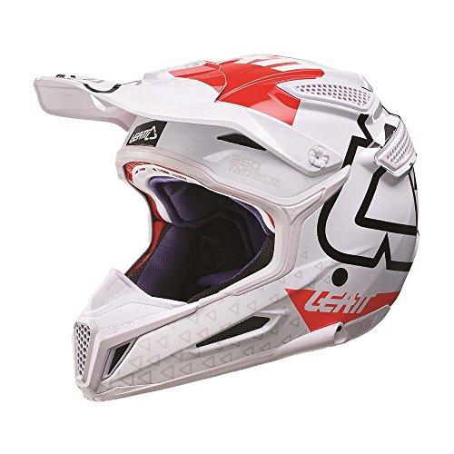 Leatt GPX 5.5 V15 Full Face casque Blanc/rouge ECE