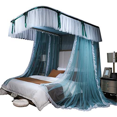 Ai xin Luxusbett Vorhänge Dach, Rüschen Tassel 4 Eckpfosten- Moskitonetz, Bett-Überdachung for Mädchen Kinder, Prinzessin Bettwäsche Vorhang Canopy Netting Überdachungen (Größe : 1.8m)