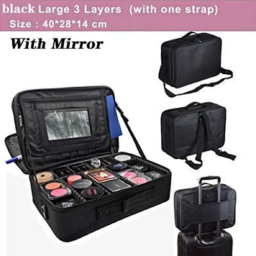 ZKYXZG Bolso de Cosméticos Estuche de Maquillaje Profesional Estuche de uñas de Belleza Femenina Estuche cosmético Bolsa de Almacenamiento de Gran Capacidad de Viaje Maletas