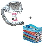 (2 In 1) 42 Packs Flex Flexy Flexi Twist Foam Hair Curler Rollers Curling Rods + Hair Dryer Bonnet...