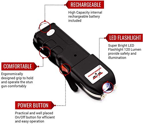 Avenger Defense ADS-10 – Portable Stun Gun – Extremely Powerful Rechargeable Stun Gun for Self Defense and Protection… 4