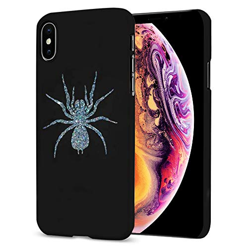 i-Tronixs Lady HALE Brooch-Inspired Phone Case for Sony Xperia XZ2 Compac Protective Hard Back Case Cover, Silver Spider [Brexit Supreme Court] Design 001 Black