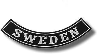 Szwecja - haftowana łatka 30 x 10 cm