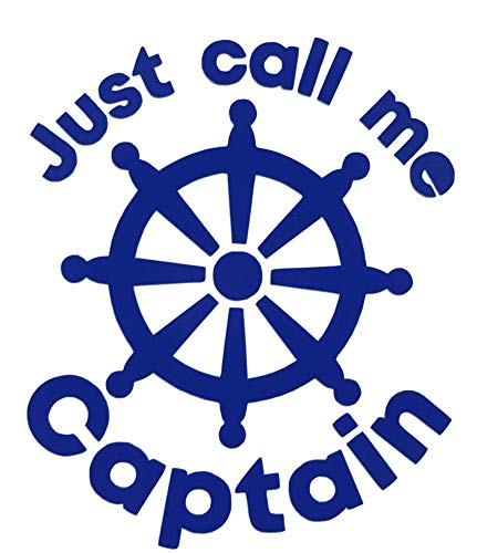 Custom Vinyl Call Me Captain Anchor Decal, Nautical Love Bumper Sticker, for Tumblers, Laptops, Car Windows
