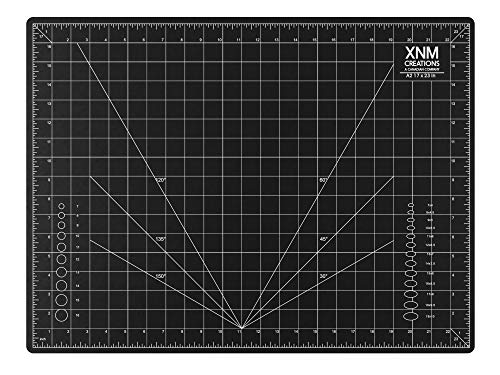 XNM Creations Premium Self Healing Cutting Mat - 18 Inches by 24 inches - A2, 3 Layer Quality PVC Construction - Dual Sided, Imperial and Metric Grid Lines - Perfect for Cutting, Sewing, and Crafts