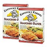 Kentucky Kernel Seasoned Flour 10 oz Two Pack (20 oz total) - Seasoned Flour for Coating Chicken,...