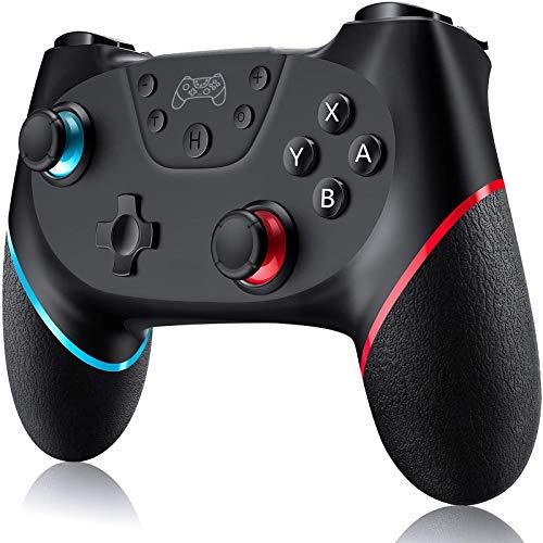 Mando Nintendo Switch, Mando Inalámbrico para Nintendo Switch/ Lite, Mando Switch apoya dualshock, Turbo y Giroscopio con Cable de Carga
