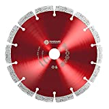 """TOOLGAL Diamond Blade 7' for Masonry - Wet and Dry Cutting of Concrete/Tiles/Stone - ⅞"""" Arbor fit to Angle Grinders, Circular Saws, Masonry Saws, Tilesaw and Cutoff Cutters"""