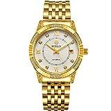 Binlun orologio da polso da uomo placcato oro 18K, automatico/meccanico Regalo per la Festa del Papà Regalo di San Valentino (oro 6)