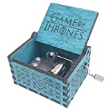 Game of Thrones Music box Hand Crank Musical Box Carved Wooden Music Boxes Mini Size Gift for Women/Men/Girls/Boys