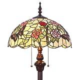 Bieye L31408 65 pulgada Mariposa Lámpara de pie del vitral del estilo de Tiffany