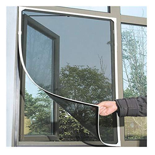 Fenster-Moskitonetz mit Magnetbefestigung 150 x 130cm | Zuschneidbar ohne Bohren mit Magnet - Klebmo Balock Schuhe (Grau)
