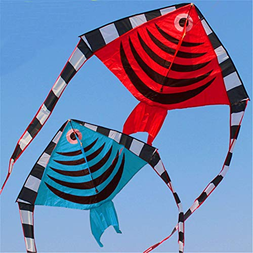 Zacheril Kite 1.2M Swallow Fish Shape Flying Kites With Tail Children Summer Outdoor Fun Sport Games Kids Toys For Children And Adults