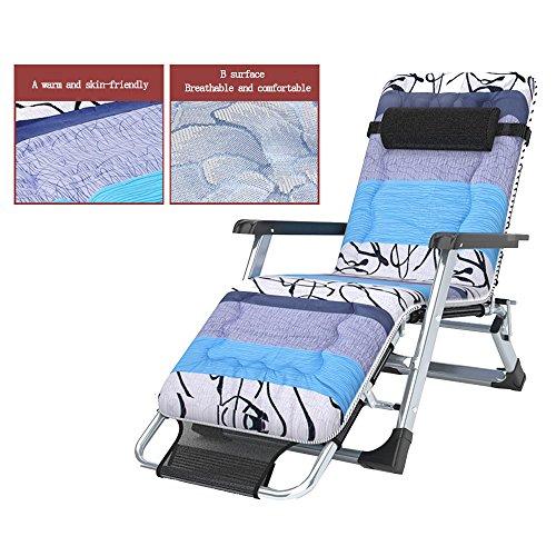 FEIFEI Fauteuils inclinables Pliage Draps Personnes Chaises Pliage Déjeuner Pause Bureau Renfort Respirant Simple Siesta Bed Pliant (Couleur : B)