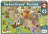 Educa Detectives Castillo. Puzzle Infantil de 50 Piezas. Móntalo y Busca los Objetos escondidos. +4 años. Ref. 18895