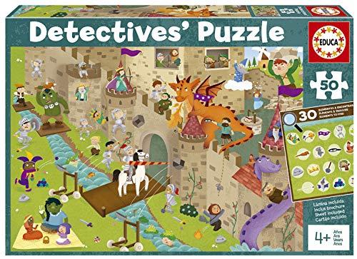 Detectives Castillo. Puzzle Infantil de 50 Piezas. Móntalo y Busca los Objetos escondidos. +4 años. Ref. 18895