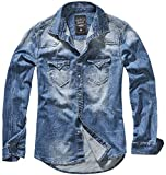 Brandit Denimshirt Riley - Blue - 5XL