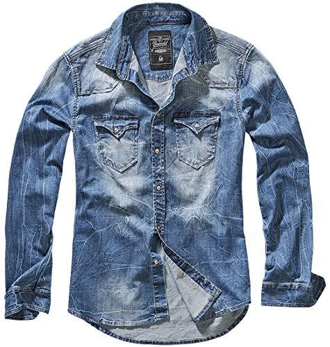 Brandit Homme Chemise Jeans Riley Denimshirt - Bleu (Denim Bleu 62), XL