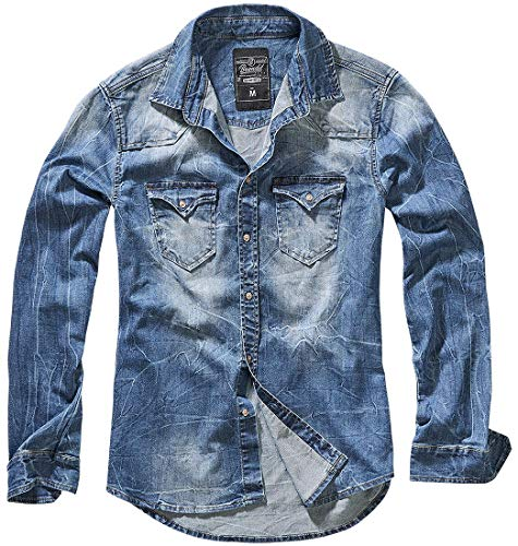 Brandit Denimshirt Riley - Blue - XXL