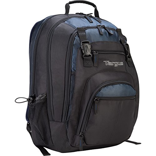 targus cool backpacks Targus XL Travel and Business Backpack for 17-Inch Laptop, Large Commuter with Black/Blue Accents (TXL617)