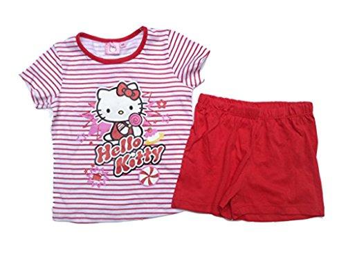 Hello Kitty Shorty rot (98-3 Jahre)