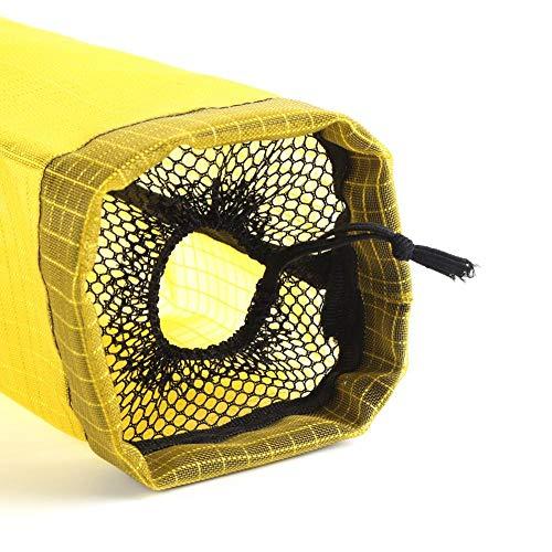 Dispensador de bolsas de supermercado, soporte de bolsa de supermercado de gran capacidad para almacenamiento Bolsas de plástico para cubiertas de zapatos(yellow)