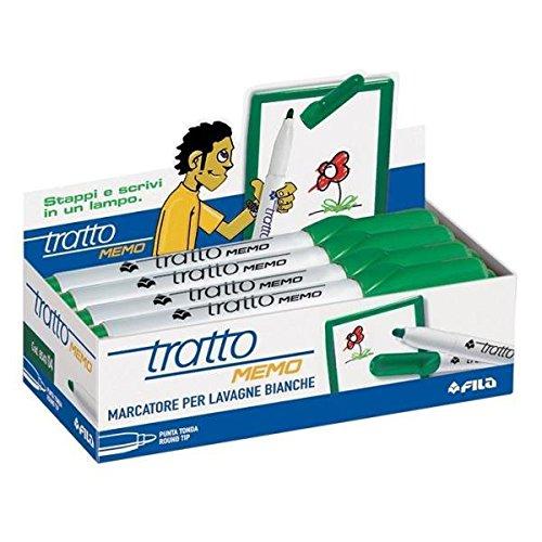 Tratto 854004 Vert stylo-feutre - Stylos-feutres (Vert, Vert, Blanc, 12 pièce(s))