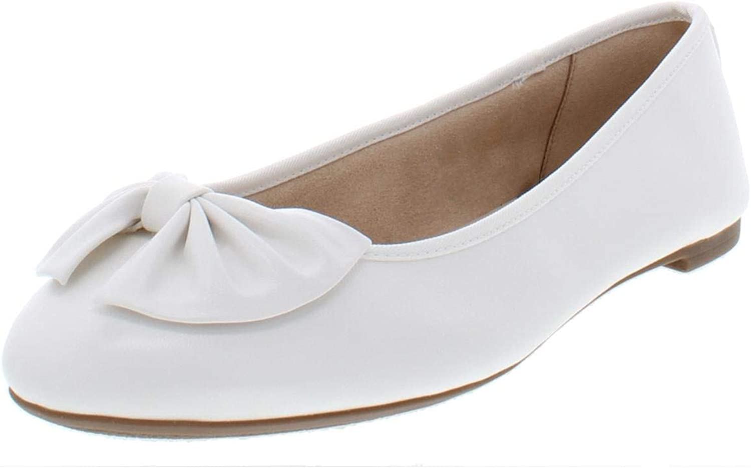 Circus by Sam Edelman Womens Ciera Padded Insole Faux Leather Ballet Flats