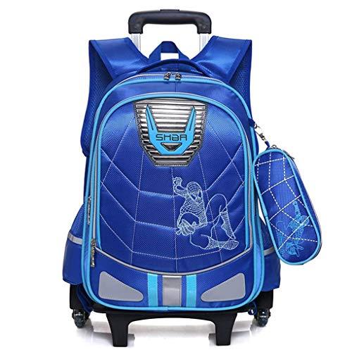 XNheadPS Zaino Trolley Spiderman Ruote per Bambini/Ragazzi, Leggero Portatile Carry Bambini Bagagli sul Carrello Valigia per Il Viaggio per Le Vacanze o Scuola,Blue