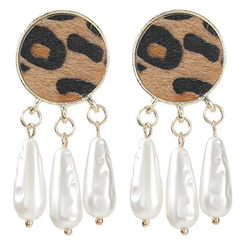 Vvff Pendientes De Perlas De Imitación Redondos De Metal Pendientes De Gota Con Encanto Populares Para Mujeres Accesorios De Joyería
