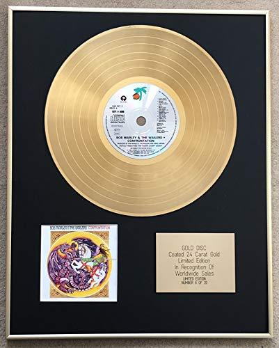Century Music Awards - Bob Marley – CD mit 24 Karat Gold beschichtet – ConFRONTATION