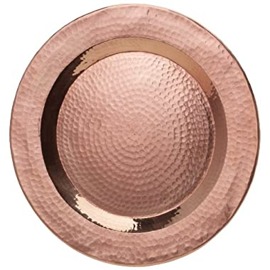 Sertodo Copper PC-12 Centerpiece Display Plate, Hand Hammered 100% Pure Copper, 12   Round Charger Plate