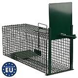 Moorland Safe 5001 Trampa Animales Vivos - Martas Conejos Ratas - 60x23x23cm Trampa de Alambre - Resistente al Tiempo