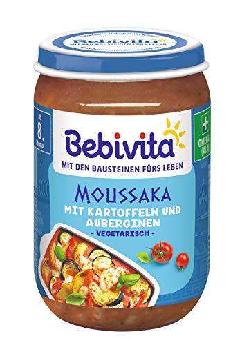 Bebivita Menüs ab 8. Monat, Vegetarisches Moussaka mit Kartoffeln und Auberginen, 6er Pack (6 x 220 g)