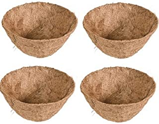 """Panace Products 88593 16"""" Round Pre-Formed Coco Fiber Hanging Basket Liner - Quantity 4"""