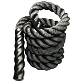 Heavy Weighted Jump Rope Skipping Rope Workout Battle Ropes for Men Women Total Body Workouts Power Training Improve Strength Building Muscle