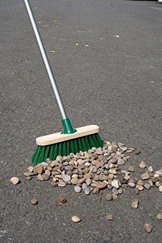 11.5' Sweeping Brush Heavy Duty Stiff Outdoor Yard Broom & Metal Handl