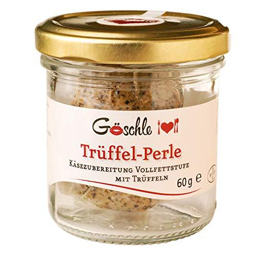 Die Trüffelmanufaktur - Feinkost Trüffel Perle, Reibekäse mit echtem schwarzem Trüffel, mild nussiger Hartkäse für Feinschmecker und Gourmets, Packung á 60 g