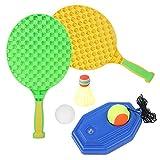 MOUMOUTEN Juego de Entrenamiento de Tenis, Juego de Raquetas de Tenis de Entretenimiento 6 en 1, Juego de Entrenador Inteligente con Cuerda elástica para niños