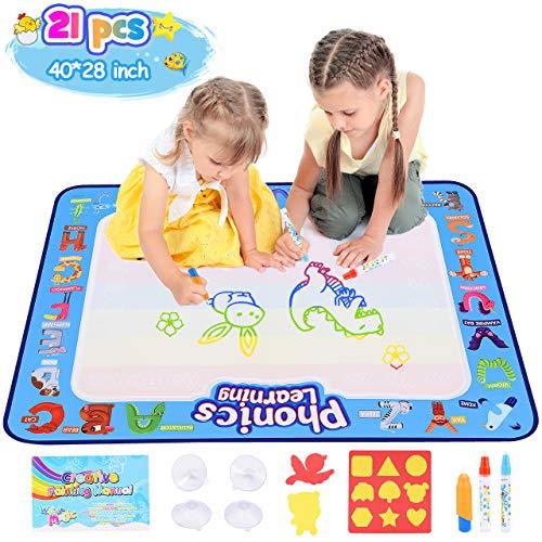 dmazing Spielzeug ab 2 3 4 5 6 Jahre Mädchen, Aqua Doodle Baby Spielzeug 12-18 Monats Weihnachts Geschenke für Jungs 3-12 Jahre Kinderspielzeug Geschenk Mädchen 4-10 Jahre Lernspielzeug für Kinder