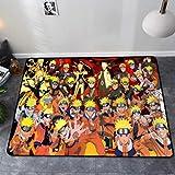 LSXA Alfombra Creativa Sala De Estar De Dibujos Animados Estera Rectangular De Mesa De Café Habitación para Niños Habitación Mesita De Noche Alfombra Personalizada Naruto Alfombras De Anime