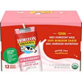 Horizon Organic Low Fat Organic Milk Box, Strawberry, 8 Ounce (Pack of 12)...