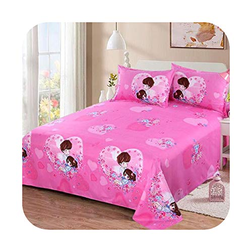 zhougang Floral Birds Bed Sheet 100% Cotton Mattress Protector Cover Flat Sheet 1pcs Soft Bedclothes Twin Full Queen King Size,20,230cmx200cm