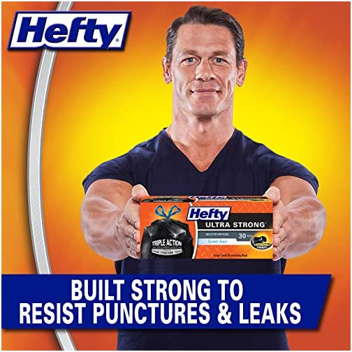 Hefty Ultra Strong Large Scent Free Drawstring Trash Bags - 30 Gallon 4