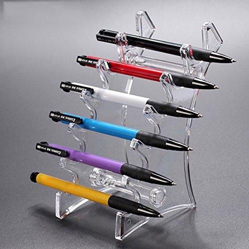 E-Meoly Acryl-Ständer mit 6 Ebenen für Stifte/ Augenbrauenstifte/ Make-up-Pinsel/ Nagelbürsten/ E-Zigaretten durchsichtig