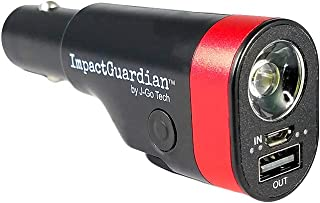ImpactGuardian 6 in 1 Car Emergency Escape Tool w/ 3YR Warranty   USB Car Charger   Window Breaker   Seat Belt Cutter   2200mAh Power Bank   Ultra-Bright Flashlight with Red Emergency Flasher (1)