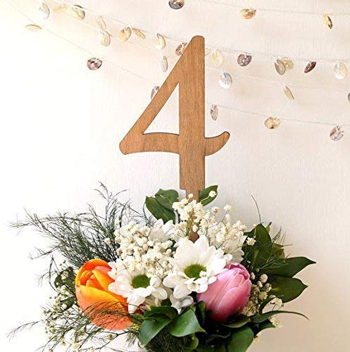 Amazon Com Large Table Numbers 5 Inch Wooden Table Numbers For Using In Flower Arrangements Wedding Table Numbers Rustic Wood Table Numbers Handmade